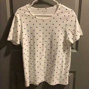 White Stag black and white polka dot shirt